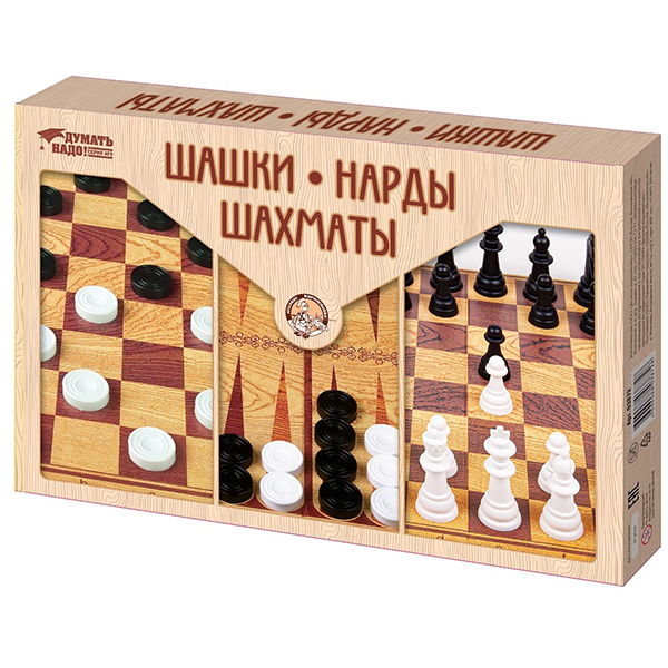 Купить Десятое королевство TD03872 Игра настольная Шашки, Нарды, Шахматы (большие), Настольные игры Десятое Королевство