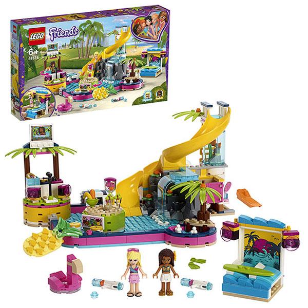Купить LEGO Friends 41374 Конструктор ЛЕГО Подружки Вечеринка Андреа у бассейна, Конструкторы LEGO