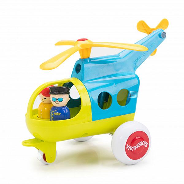 картинка Vikingtoys 701272 Модель вертолета JUMBO с 2 фигурками (новые цвета) от магазина Bebikam.ru