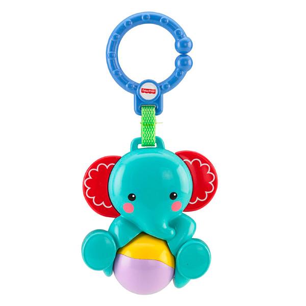 Купить Mattel Fisher-Price CBK74 Фишер Прайс Погремушка - подвеска Слоник, Игрушка для малышей Mattel Fisher-Price