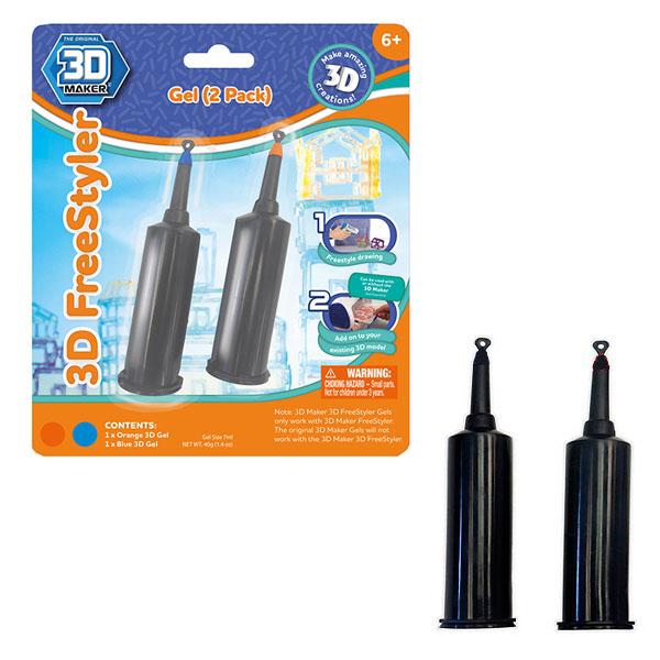 Купить 3D Magic 91003 FreeStylE 3D 2 картриджа с гелем, Набор для творчества 3D Magic