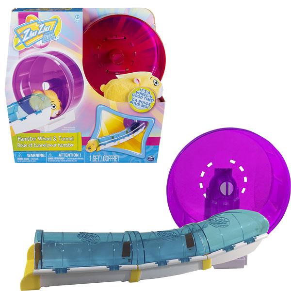 Купить Zhu Zhu Pets 21308 Колесо с туннелем для хомяка, Интерактивная игрушка BARBIE (Mattel)
