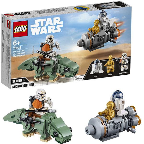 Купить Lego Star Wars 75228 Конструктор Лего Звездные Войны Спасательная капсула Микрофайтеры: дьюбэк, Конструктор LEGO