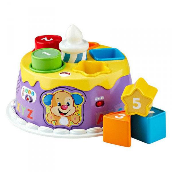 Купить Mattel Fisher-Price DYY06 Фишер Прайс Торт с волшебными огоньками, Развивающие игрушки для малышей Mattel Fisher-Price