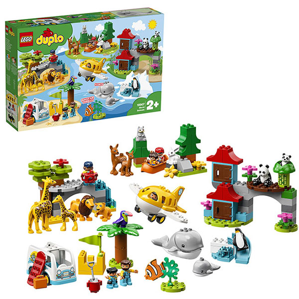 Купить LEGO DUPLO 10907 Конструктор ЛЕГО ДУПЛО Животные мира, Конструктор LEGO