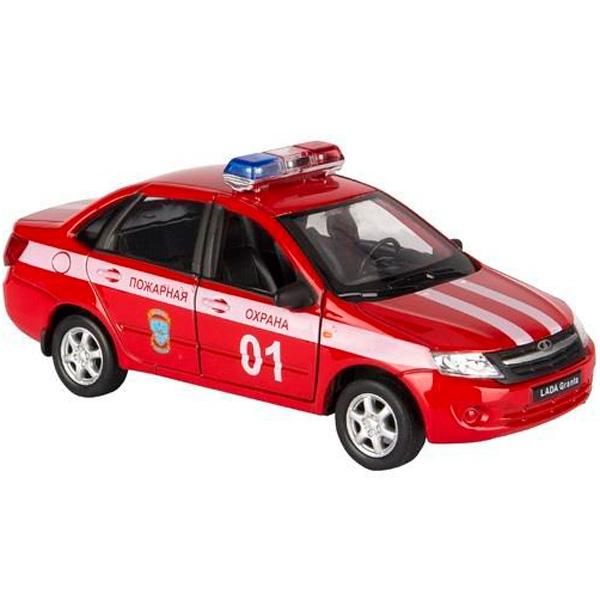 Машинка Welly 43657FS модель машины 1:34-39 LADA Granta ПОЖАРНАЯ ОХРАНА
