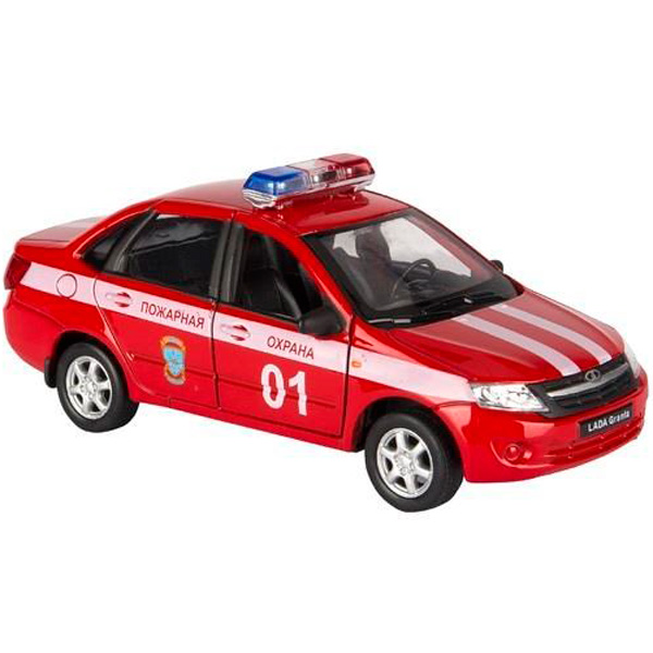 Welly 43657FS модель машины 1:34-39 LADA Granta ПОЖАРНАЯ ОХРАНА, Машинка Welly  - купить со скидкой