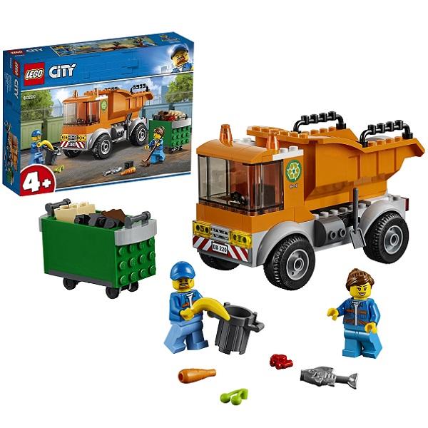 Купить LEGO City 60220 Конструктор ЛЕГО Город Транспорт: Мусоровоз, Конструкторы LEGO