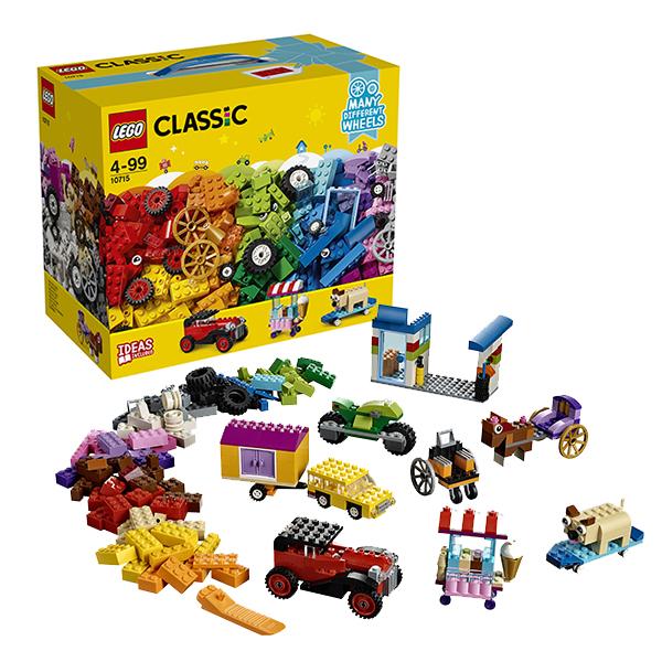 Купить LEGO Classic 10715 Конструктор ЛЕГО Классик Модели на колёсах, Конструкторы LEGO