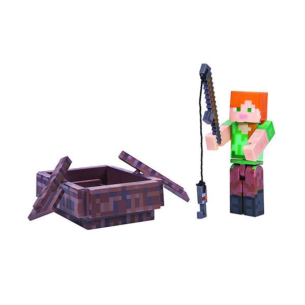 Купить Minecraft 16491 Майнкрафт фигурка Alex with Boat, Минифигурка Minecraft