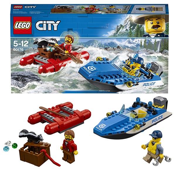 Lego City 60176 Конструктор Лего Город Погоня по горной реке, арт:152402 - Город, Конструкторы LEGO