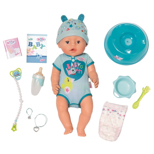 Zapf Creation Baby born 824-375 Бэби Борн Кукла-мальчик Интерактивная, 43 см, арт:153038 - Baby Born, Куклы и аксессуары