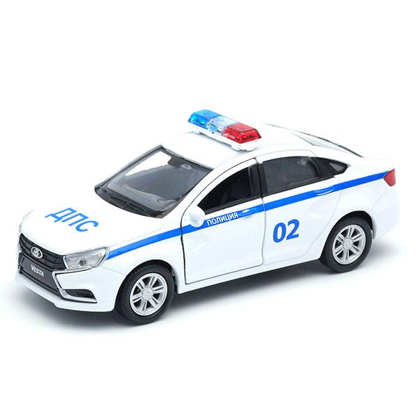 Купить Welly 43727PB Велли Модель машины 1:34-39 LADA Vesta Полиция ДПС , Машинка Welly