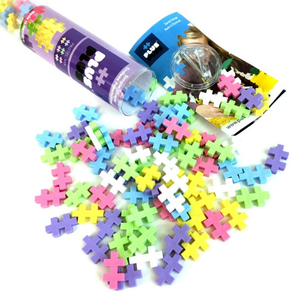 Купить Plus Plus 4025 Разноцветный конструктор для создания 3D моделей (пастель), Конструкторы Plus Plus