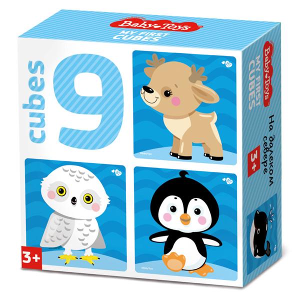 Купить BABY TOYS TD03535 Кубики На краю земли (без обклейки), 9 шт, Развивающие игрушки для малышей Десятое Королевство