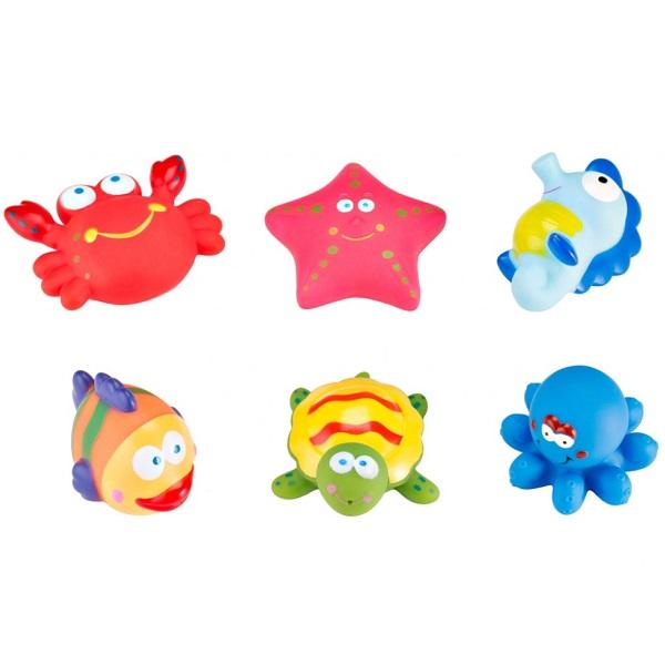 Купить ROXY-KIDS RRT-811-2 Набор игрушек для ванной Морские обитатели , 6 шт, Детские игрушки для ванной ROXY-KIDS