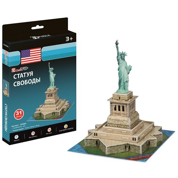 Купить Cubic Fun S3026 Кубик фан Статуя Свободы (США) (мини серия), 3D пазлы Cubic Fun