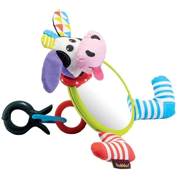 """Развивающие игрушки для малышей Yookidoo 40144 Игрушка-зеркальце """"Коровка"""" фото"""