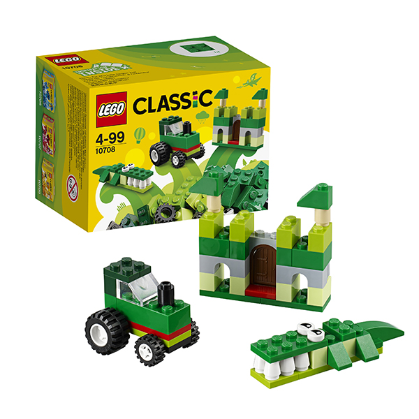 Lego Classic 10708 Конструктор Лего Классик Зелёный набор для творчества, арт:145767 - Классик , Конструкторы LEGO