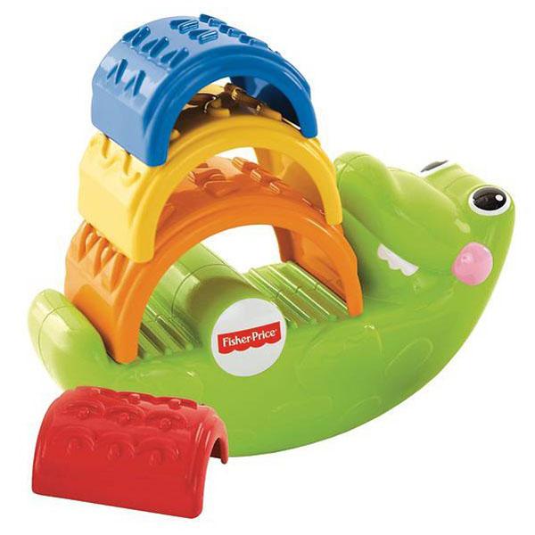 Купить Mattel Fisher-Price CDC48 Фишер Прайс Игрушка-пирамидка Крокодильчик , Развивающие игрушки для малышей Mattel Fisher-Price
