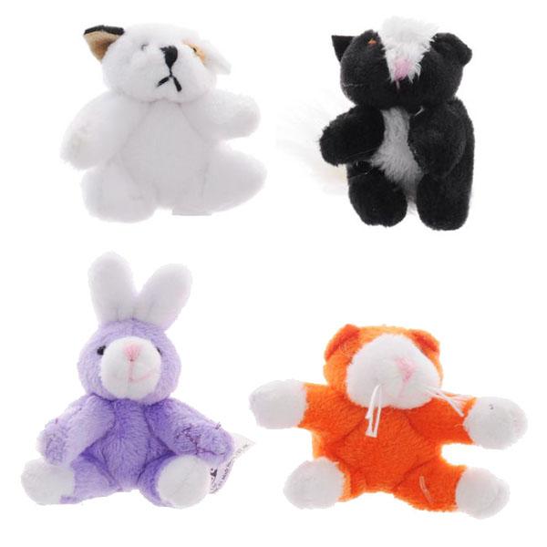 Купить Beanzees B34031 Бинзис Мини плюш в наборе Песик, Скунс, Кролик, Котик , Набор фигурок Beanzeez