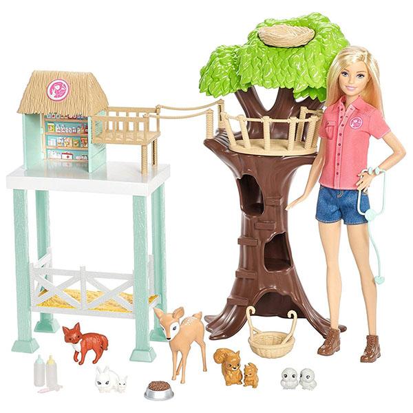Купить Mattel Barbie FCP78 Барби Игровой набор Спасатель животных , Кукла Mattel Barbie