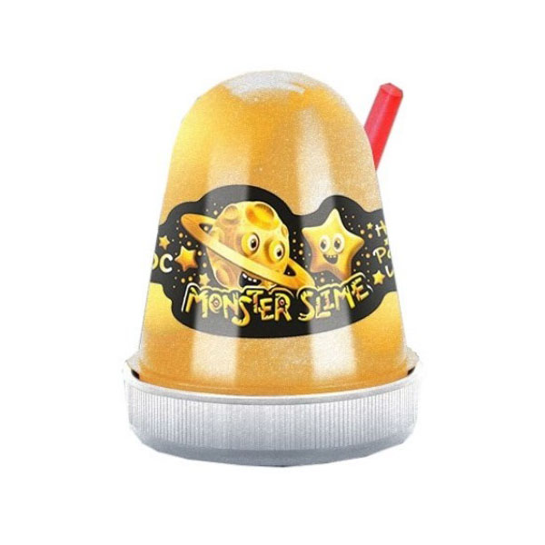 Купить KiKi SL012 Monster's Slime Fluffy Золотой Космос 130 гр., Игровые наборы KiKi