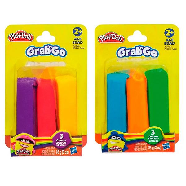 Купить Hasbro Play-Doh A3357 Набор из пластилина трех цветов (в ассортименте), Пластилин и масса для лепки Hasbro Play-Doh