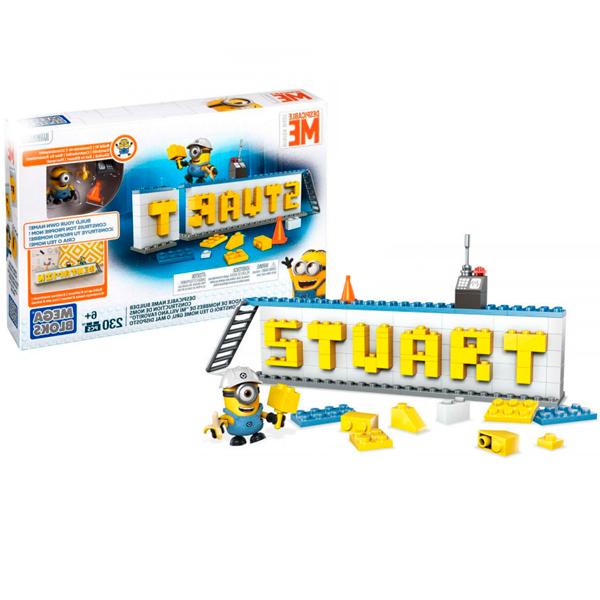 Купить Mattel Mega Bloks DRV32 Мега Блокс Конструктор Гадкий Я Табличка для имени, Конструкторы Mattel Mega Bloks