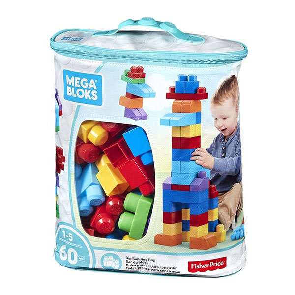 Mattel Mega Bloks DCH55 Мега Блокс Конструктор из 60 деталей, Конструктор Mattel Mega Bloks  - купить со скидкой