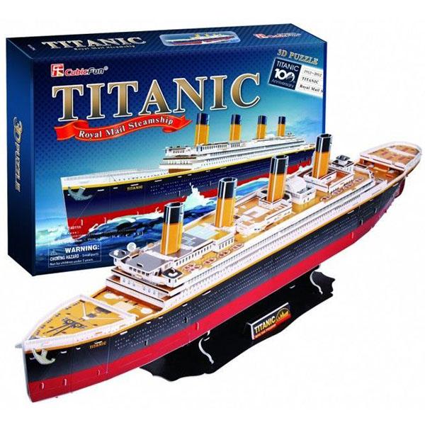 """3D пазлы Cubic Fun T4011h Кубик фан Корабль """"Титаник"""" фото"""