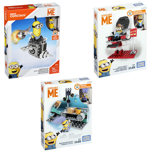 Купить Mattel Mega Bloks DMV29 Мега Блокс Миньоны: игровые наборы, серия III, Конструктор Mattel Mega Bloks