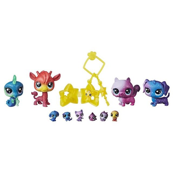 Купить Hasbro Littlest Pet Shop E2130 Литлс Пет Шоп 11 космических петов, Игровые наборы и фигурки для детей Hasbro Littlest Pet Shop