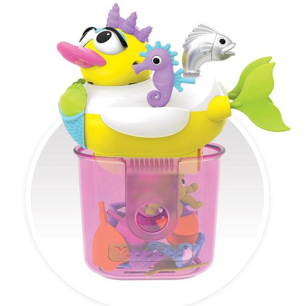 Купить Yookidoo 40171 Игрушка водная Утка-русалка с водометом и аксессуарами, Игрушки для ванной Yookidoo