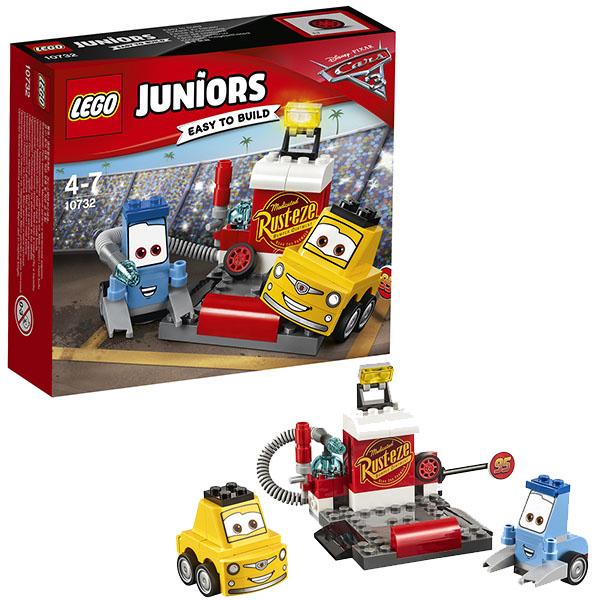 Lego Juniors 10732 Конструктор Лего Джуниорс Тачки Пит-стоп Гвидо и Луиджи, арт:148592 - Джуниорс, Конструкторы LEGO