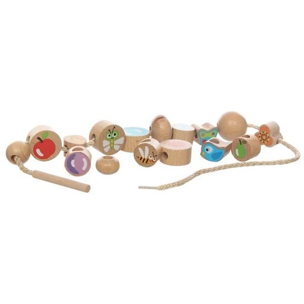 """Деревянные игрушки Игрушки из дерева D414 Бусы """"Ассорти"""" 16 штук фото"""