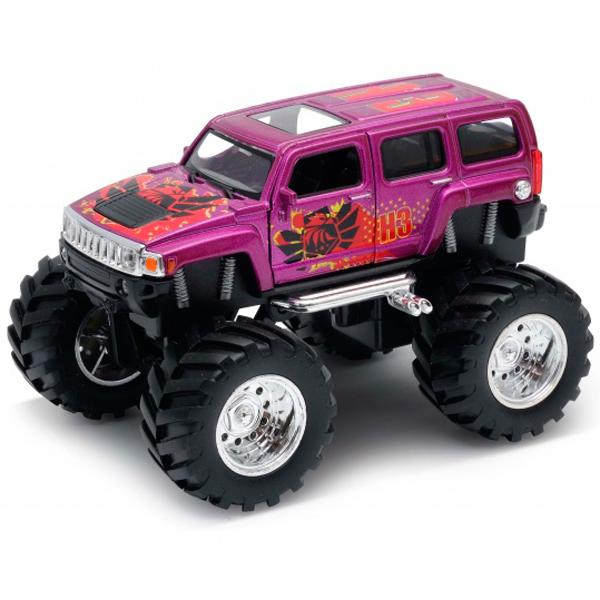 Купить Welly 47001S Велли Модель машины 1:34-39 Hummer H3 Big Wheel Monster, Машинка Welly