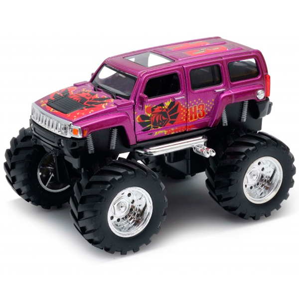 Welly 47001S Велли Модель машины 1:34-39 Hummer H3 Big Wheel Monster
