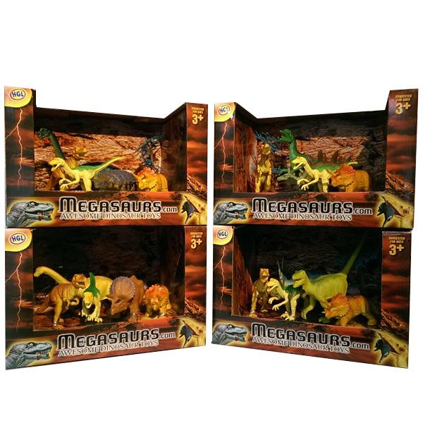 Megasaurs SV12926 Мегазавры Игровой набор динозавров (5 дино+дерево) (в ассортименте) - Игровые наборы