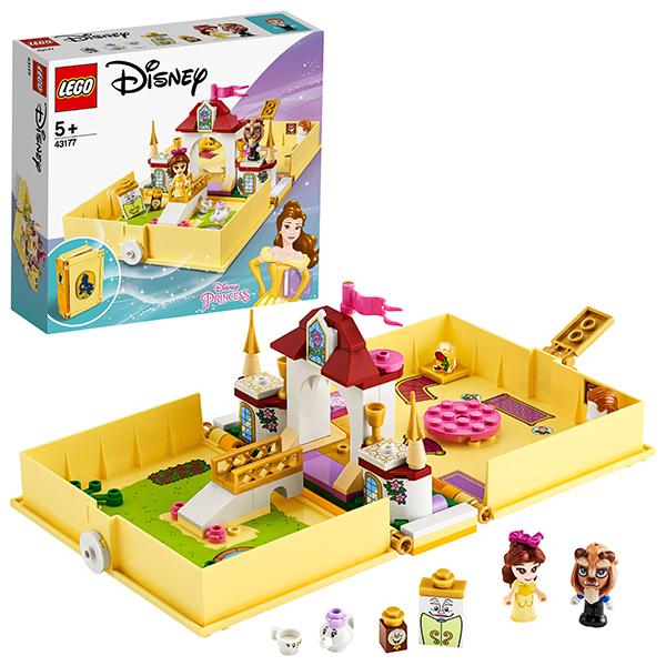 Купить LEGO Disney Princess 43177 Конструктор ЛЕГО Принцессы Дисней Книга сказочных приключений Белль, Конструкторы LEGO