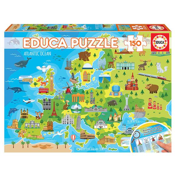 Купить Educa 18607 Игрушка головоломка-пазл 150 деталей Карта Европы