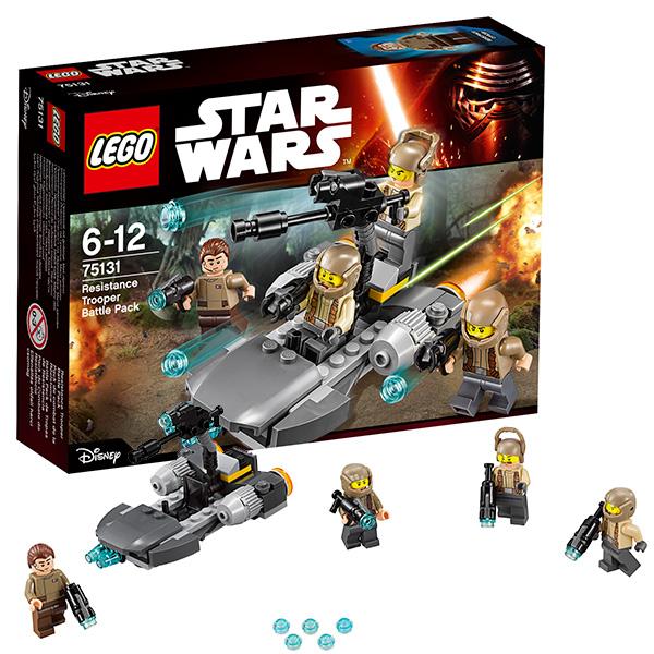 Купить Lego Star Wars 75131 Лего Звездные Войны Боевой набор Сопротивления, Конструктор LEGO