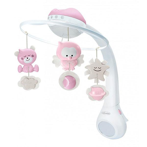 картинка Infantino 4914 Музыкальный мобиль-проектор 3 в 1 (розовый) от магазина Bebikam.ru