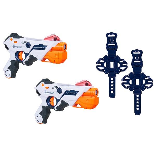 Купить Hasbro Nerf E2281 Нерф Игровой набор 2 бластера с аксессуарами Лазер Опс Альфапоинт, Игрушечное оружие и бластеры Hasbro Nerf