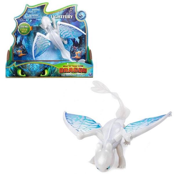 Купить Dragons 66626Wh Большая фигурка дракона со звуковыми и световыми эффектами дн.Фурия, Игровые наборы и фигурки для детей Dragons