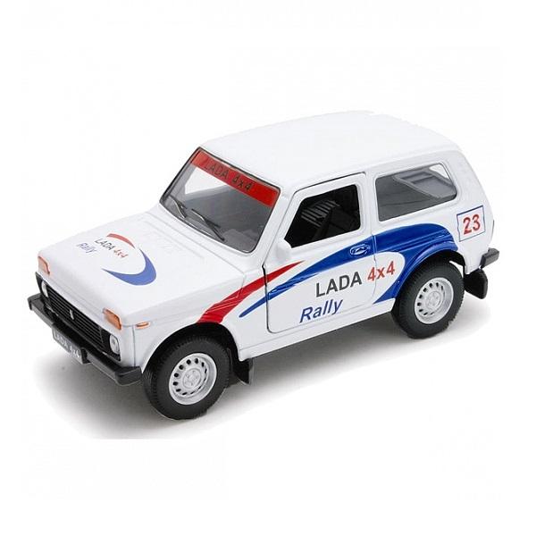 Купить Welly 42386RY Велли Модель машины 1:34-39 LADA 4x4 Rally, Машинка Welly