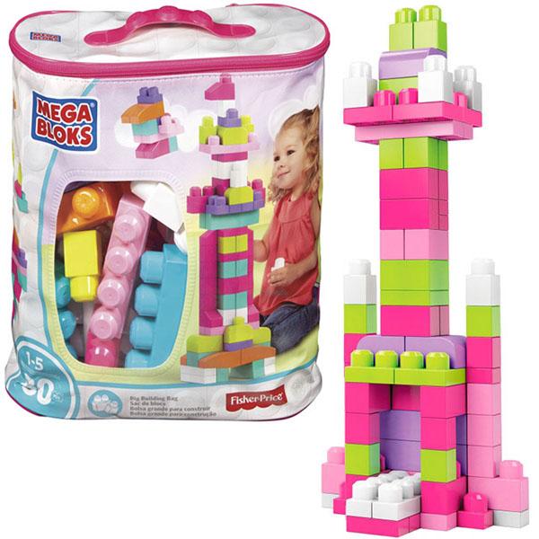 Mattel Mega Bloks DCH62 Мега Блокс Мой первый конструктор 80 деталей - Игрушки для малышей