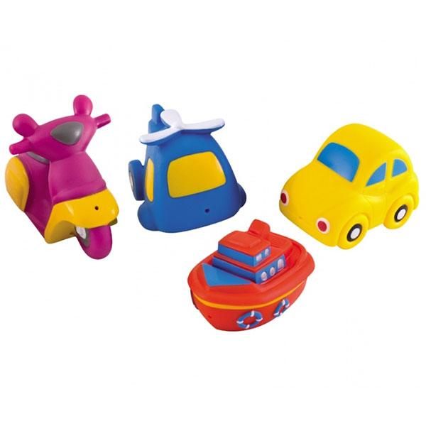Купить Canpol 250915008 Игрушки для ванны - машины, 4 шт, 12+ Vehicles, Детские игрушки для ванной Canpol babies
