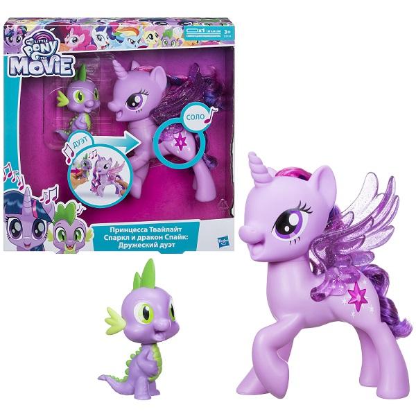 Купить Hasbro My Little Pony C0718 Май Литл Пони Сияние Поющие Твайлайт и Спайк, Игровые наборы и фигурки для детей Hasbro My Little Pony