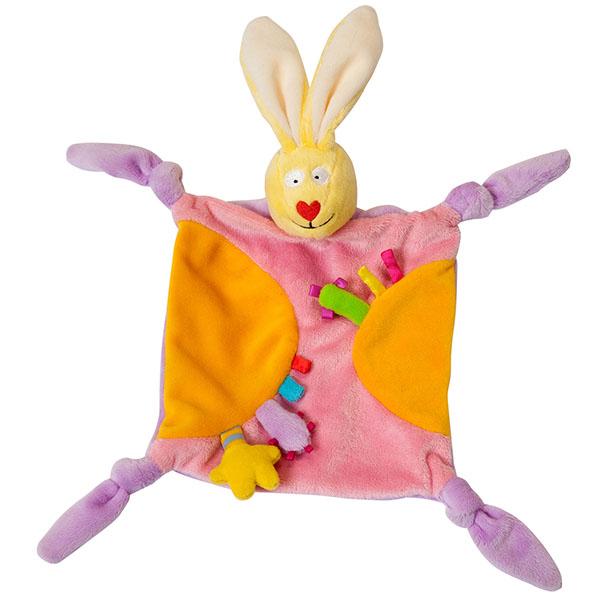 Купить Taf Toys 11055 Таф Тойс Платочек-прорезыватель Кролик , Развивающие игрушки для малышей TAF TOYS